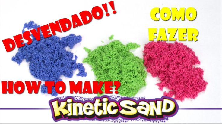 KINECT SAND DESVENDADO! COMO FAZER A VERDADEIRA AREIA CINÉTICA/DIY HOW T...