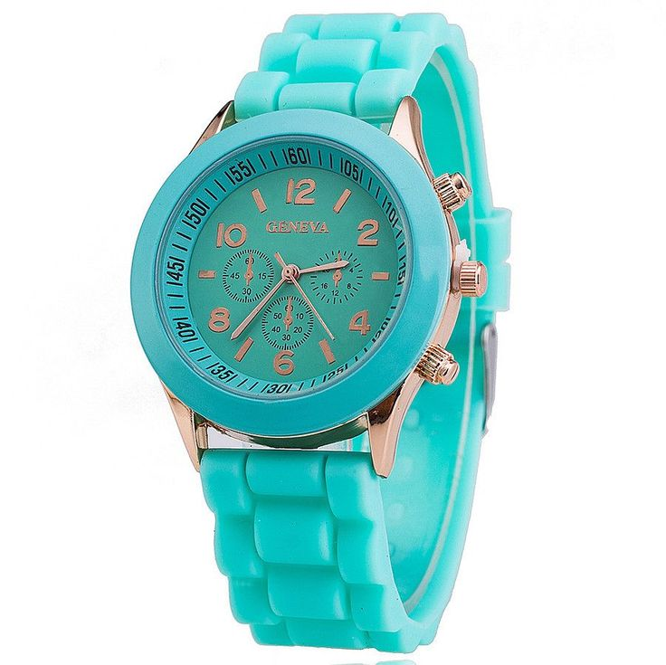 Colorful Silicone Link Band Watch Women Designer Fashion Wristwatch