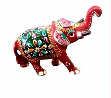 If you are looking for something unique for your living room or study, grab these superb Elephant figurines. Made of  metal, the Elephant is in blue, orange, red and green colors. artisans have taken care of all the intricate details of this statue and have enhanced the features using colorful paints.