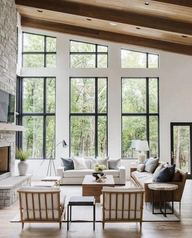 11+ Cozy Livingroom Design Ideas | Big windows living room ...