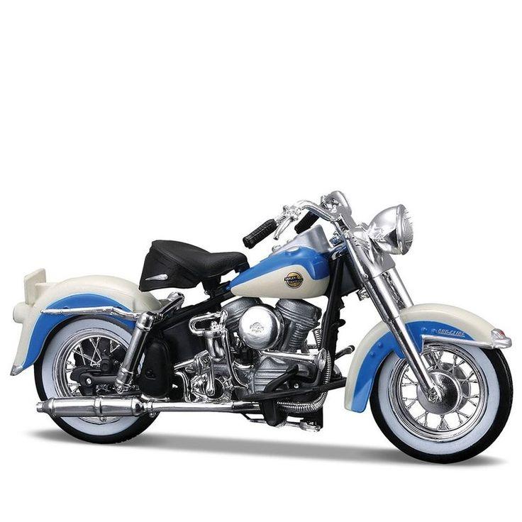 Miniatura Moto Harley-Davidson 1958 FLH Duo Glide Maisto 1:18 - Machine Cult   A loja das camisetas de carro e moto