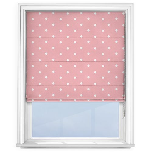 Touched by Design Dots Pink Roman Blind