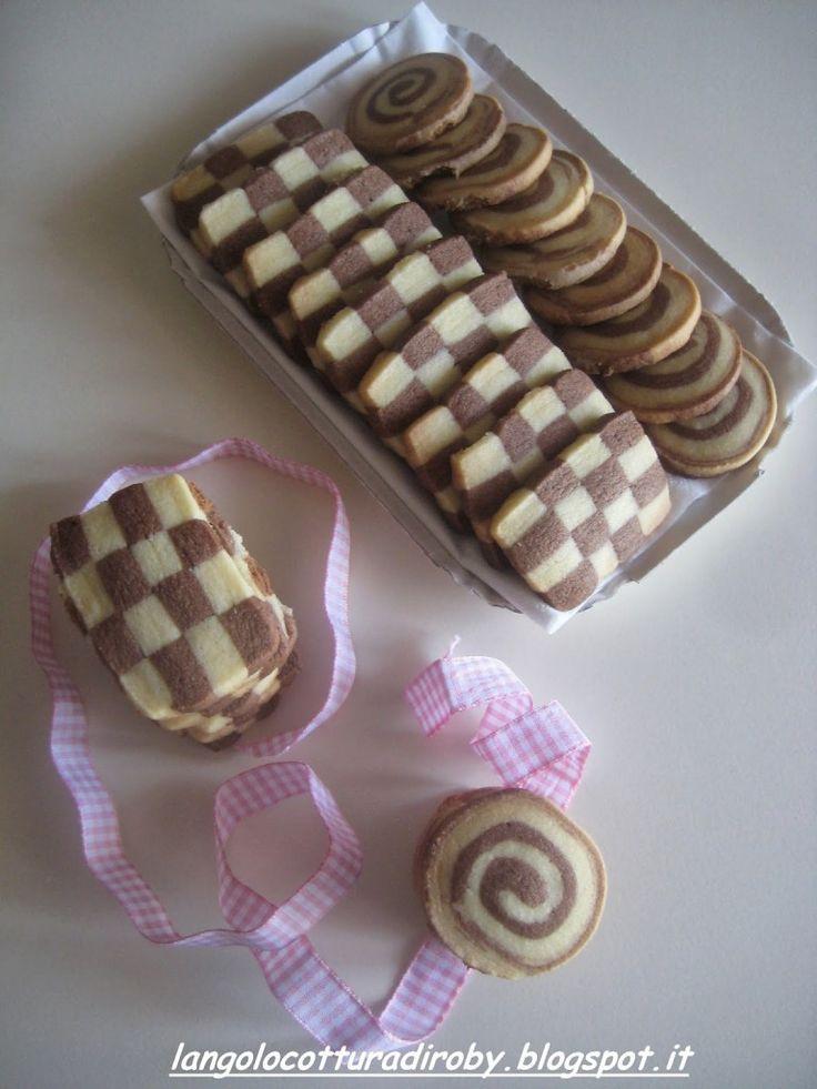 Biscotti bicolore   L'angolo cottura di Roby