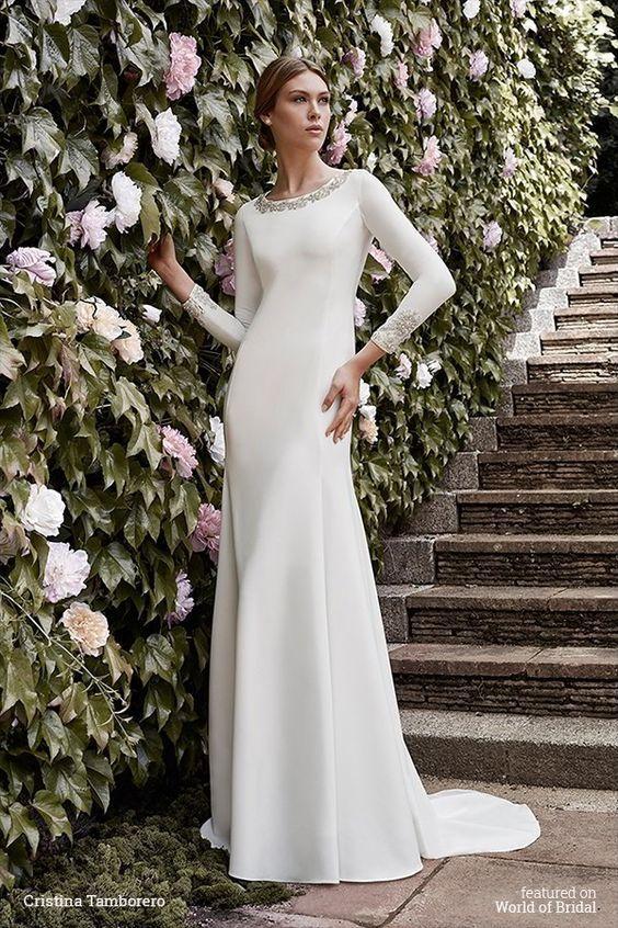 61 mejores imágenes de Modest LDS Wedding Dresses en Pinterest ...