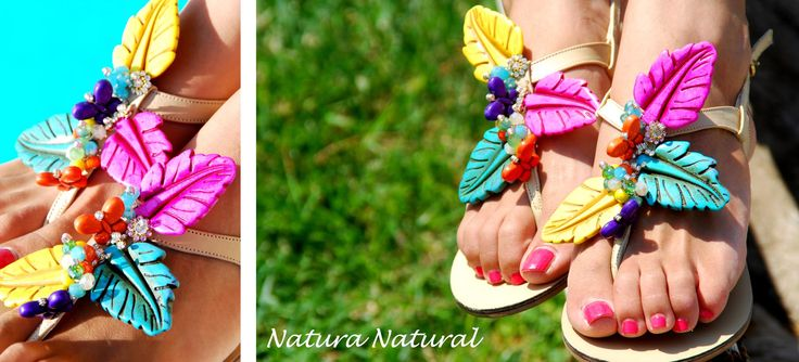 Natura Natural Sandal! Because the nature has many many colors! Bonbon Sandals