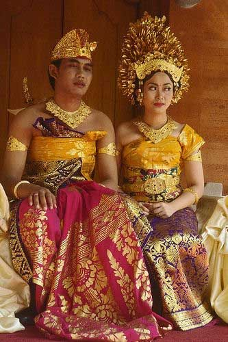 Balinese(Indonesia) wedding costume