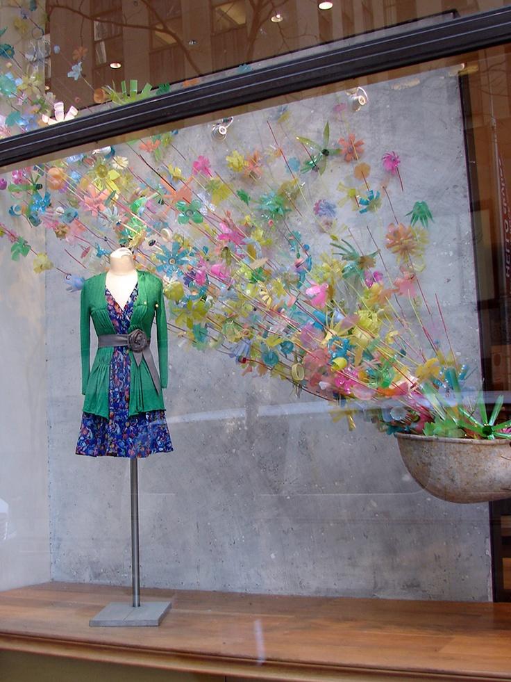 """Anthropologie """"Plastic Bottles in Bloom"""" Window Displays"""