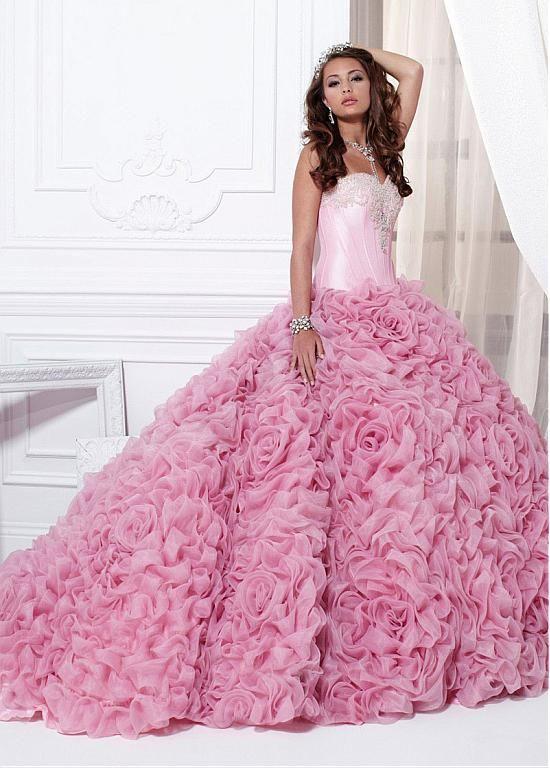 Gorgeous Organza Sweetheart Neckline Floor-length Ball Gown Quinceanera Dress