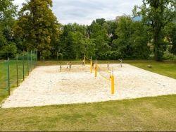 Beachvolleyballplatz im Freibereich des Asia Spas Leoben