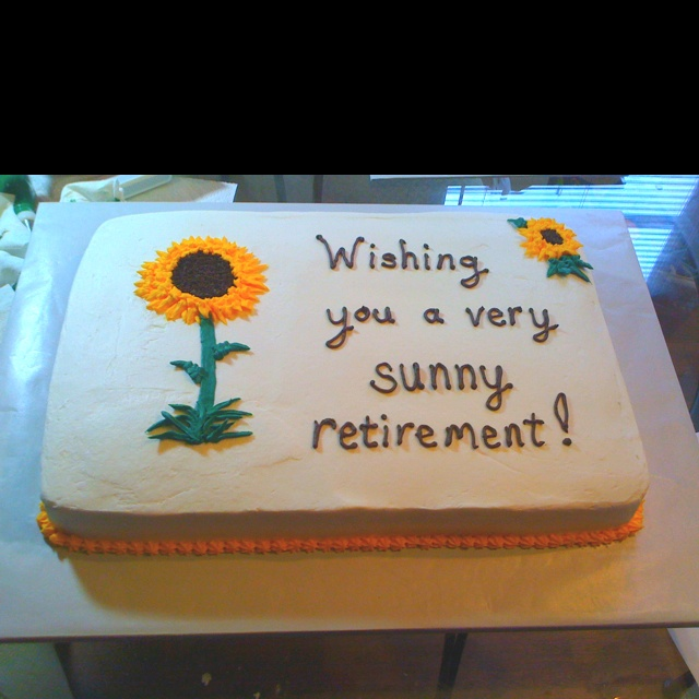 78 Best images about Cake (Retirement) Examples on Pinterest Vanilla sheet cakes, Fireman cake ...
