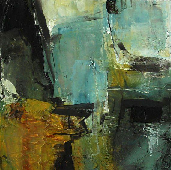 Abstract expressionisme Giclee Print van olieverfschilderij Colette Davis