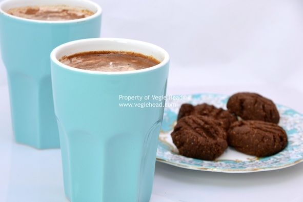 #paleo Creamy, Dreamy Hot Chocolate: 1/3 cup coconut milk; 2 tbsp raw cacao powder; 2 tsp coconut palm sugar; 1 tsp vanilla bean paste; 1/4 tsp ground cinnamon; 1 T almond butter; 2 cups water. Whisk all ingredients in a small saucepan. Bring to a gentle simmer and whisk again. Pour into mugs and sprinkle with extra cinnamon.