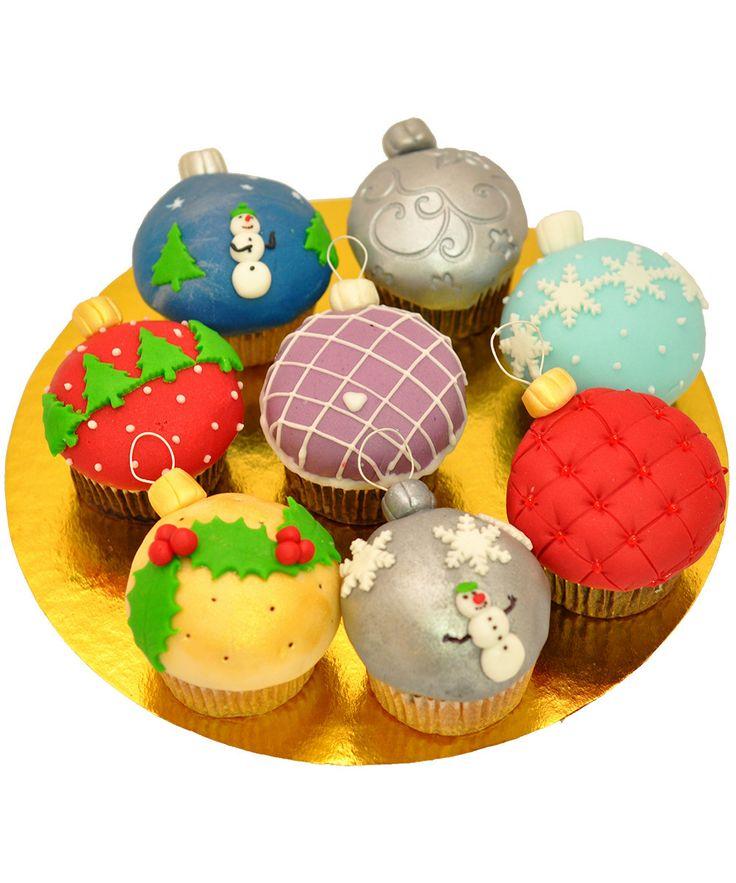 Cupcake Christmas Ball