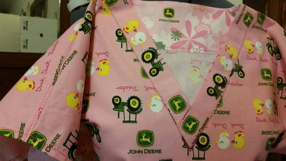 Check out this item in my Etsy shop https://www.etsy.com/listing/524085749/john-deere-scrub-duck-scrubs-pink-scrubs