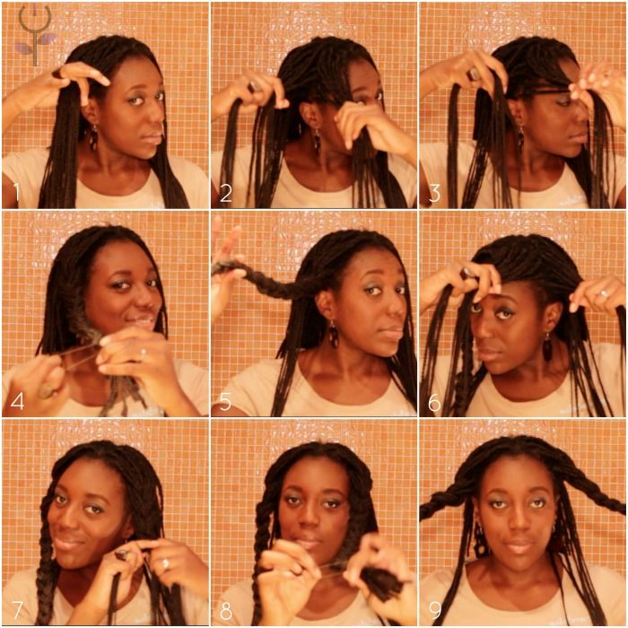 box braids up do recogido con trenzas