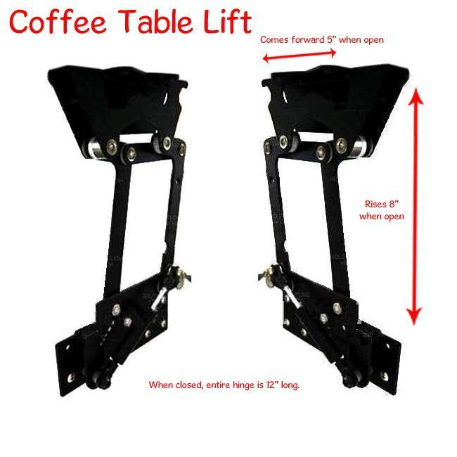 17 best images about lift top coffee table mechanism on for Lift top coffee table hinges