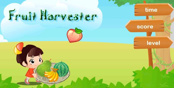Fruits Harvest . This is a game is for Android OS. The project was compiled for Adobe Air and was published to *.apk file. Adobe Air Runtime was also integrated into *.apk file, so you don't need to install Adobe Air on your