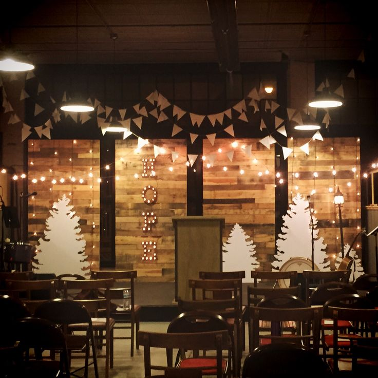 Perfect Ronnie Martin From Substance Church In Ashland, Ohio Brings Us This  Nordic Inspired Christmas Stage. Against The Four Pallet Walls, They  Constructed Four ...