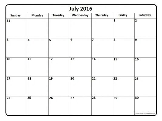 Best 25+ Blank july 2016 calendar ideas on Pinterest Iu0027m done - assessment calendar templates
