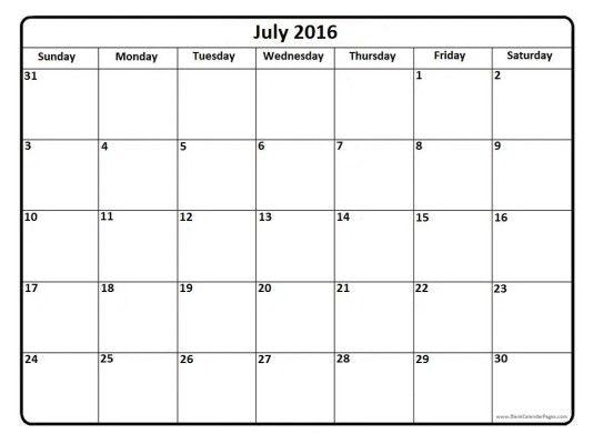 The 25+ best Blank july 2016 calendar ideas on Pinterest Clever - preschool calendar template