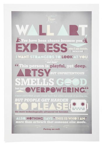 This poster makes me smile. Also makes me want to own it.Wall Art, Wallart, Dear Wall, Picture-Black Posters, Dear Typography, Art Prints, Graphics Design, Typography Wall, Art Posters