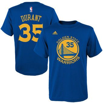 adidas Kevin Durant Golden State Warriors Name & Number T-Shirt