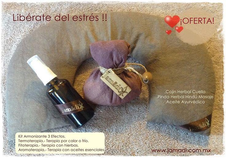 Kit Armonizante 3 Efectos. Termoterapia (Cojin Herbal Cuello) Fitoterapia (Pinda Herbal Hindú Masaje) Aromaterapia (Aceite Ayurvédico)  Contáctanos http://www.jamadi.com.mx/ Tel. 1425 5188  jamadi.cn@gmail.com  https://www.facebook.com/JamadiCosmeticaNatural https://www.facebook.com/jamadiinsumosSPA https://www.facebook.com/jamadi.jabonesartesanales.9  https://twitter.com/JamadiCN
