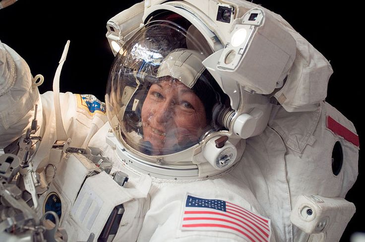 Peggy Whitson is the first woman to command the International Space Station.
