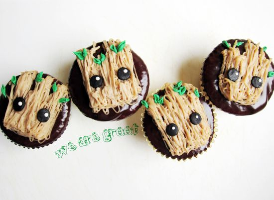 guardians of the galaxy groot cupcakes