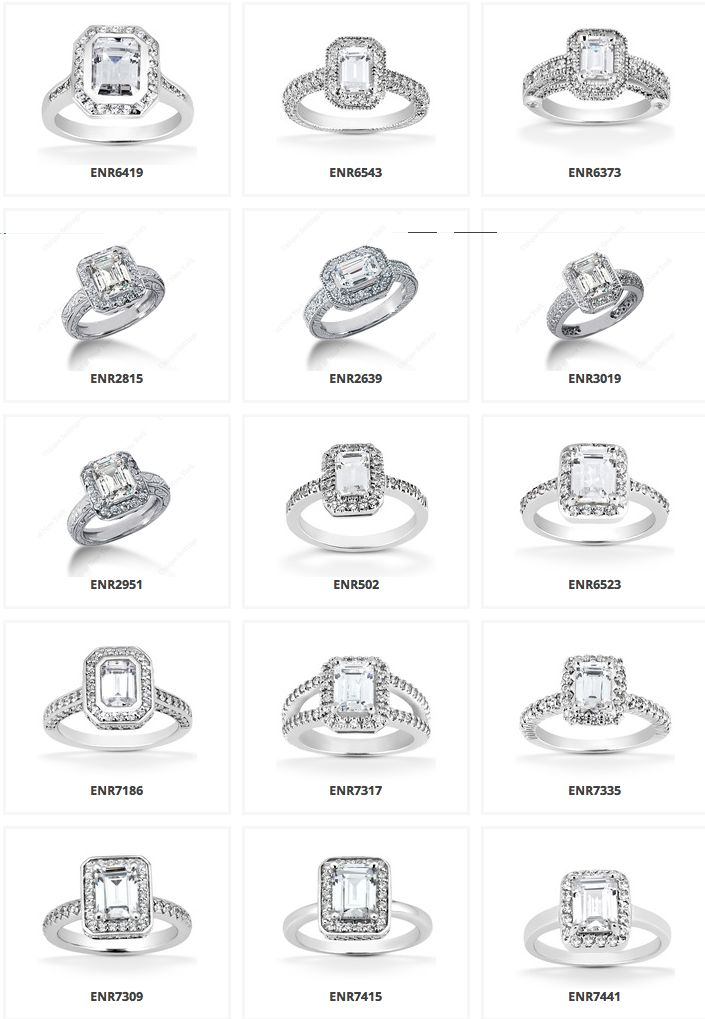 so many different types halo emerald engagement rings