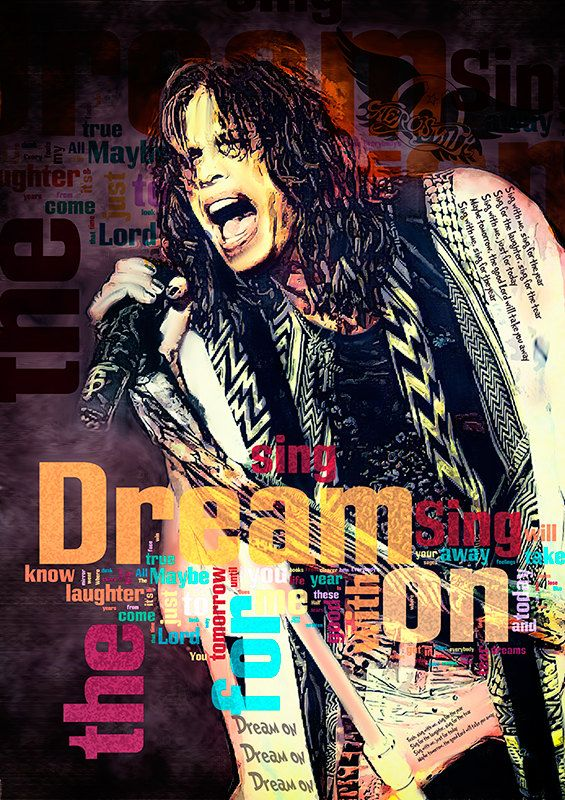 Print Steven Tyler AEROSMITH music poster Birthday Gift art Dream on poster…
