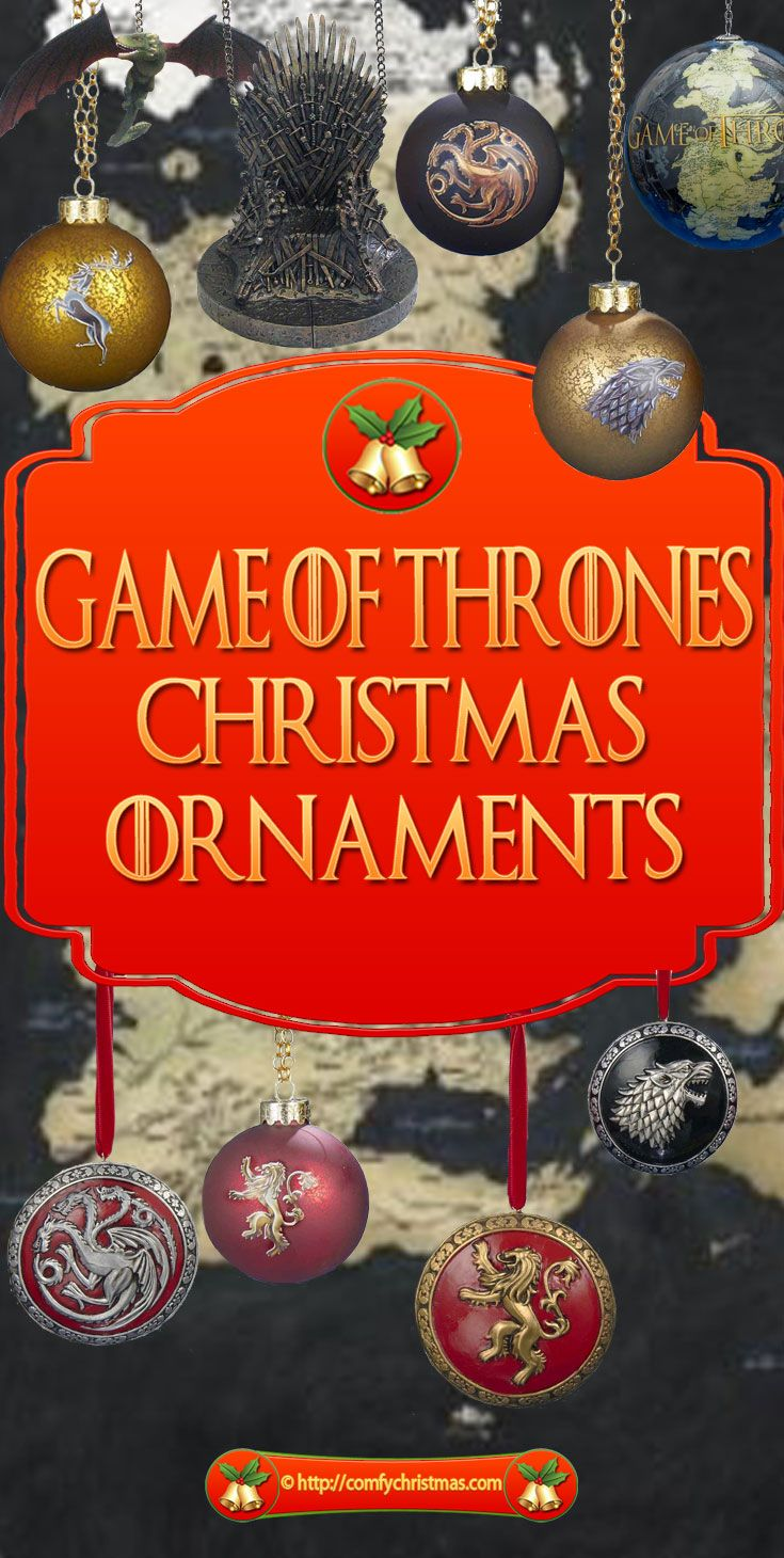 Game of Thrones Christmas Ornaments are perfect for everyone who loves the Epic Game of Thrones TV Series!These ornaments make perfect gifts for collectors and fans!