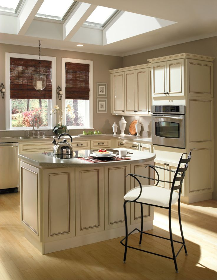 Ivory kitchen cabinets with Mocha Glaze from Homecrest ...