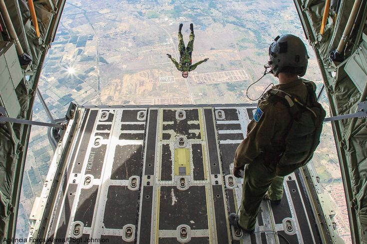 Taken by a photographer of the Força Aérea Brasileira from the cargo door of a Royal Canadian Air Force CC-130J Super Hercules during Cruzex...