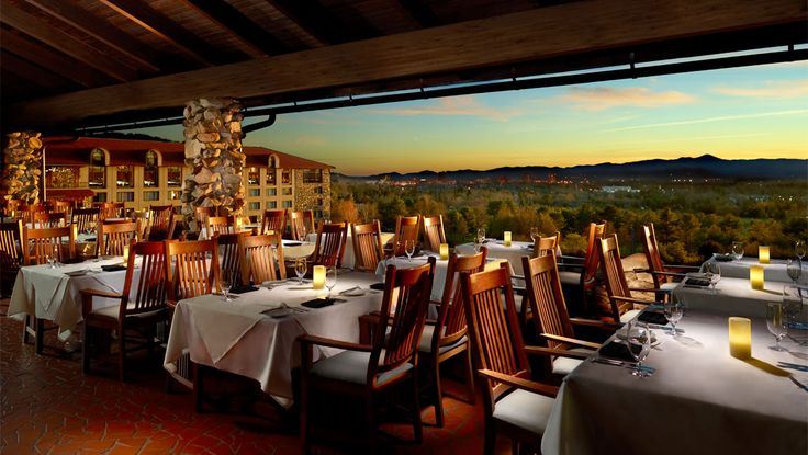 Asheville Fine Dining | Sunset Terrace | Omni Grove Park Inn. One of our best restaurant experiences ever!
