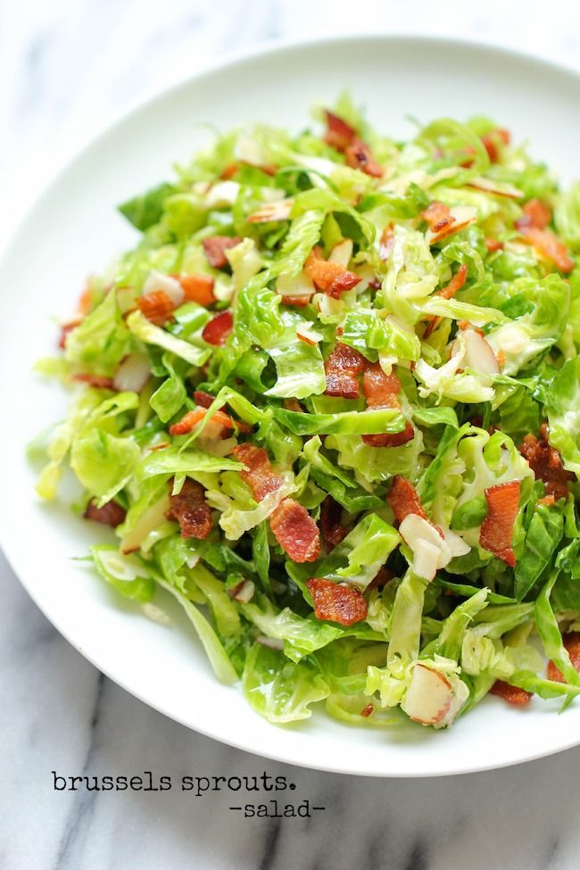 Brussels Sprouts Bacon Salad | Recipe | Bacon Salad, Brussels Sprouts ...