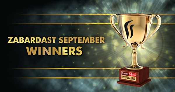 Big congratulations to all September winners on their massive wins. Play more to be our next champ. #Rummy
