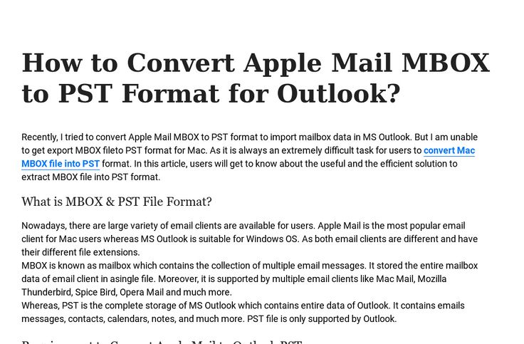 'How to Convert Apple Mail MBOX to PST Format for Outlook?' by Ben Stokes | Readymag