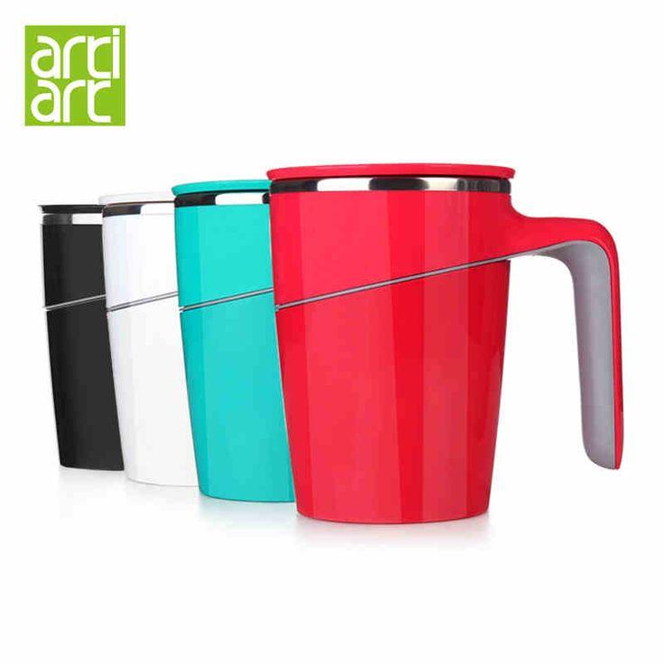 台湾Artiart 创意不倒杯 带盖不锈钢内胆情侣马克杯 办公室水杯子-tmall.com天猫