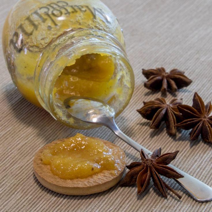 Facile, veloce, profumata, buonissima questa confettura di cachi e anice stellato!