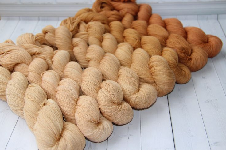 hand dyed yarn, gradient yarn,  Merino/Cashmere - 1422 yards/1300 meters, gradient caramel-mokachino by PositiveCreative on Etsy