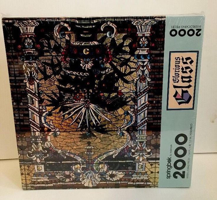 SPRINGBOK GLORIOUS GLASS Jigsaw Puzzle 2000 pc stained glass New 32x42&1/2 #Springbok