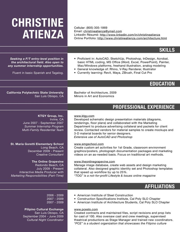 Best 10+ Resume Architecture Ideas On Pinterest | Resume Ideas