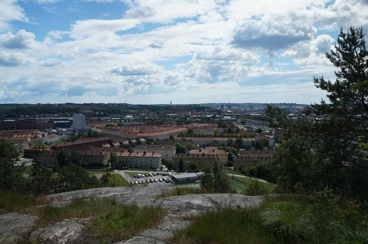 View over the city from the district of gamlestaden
