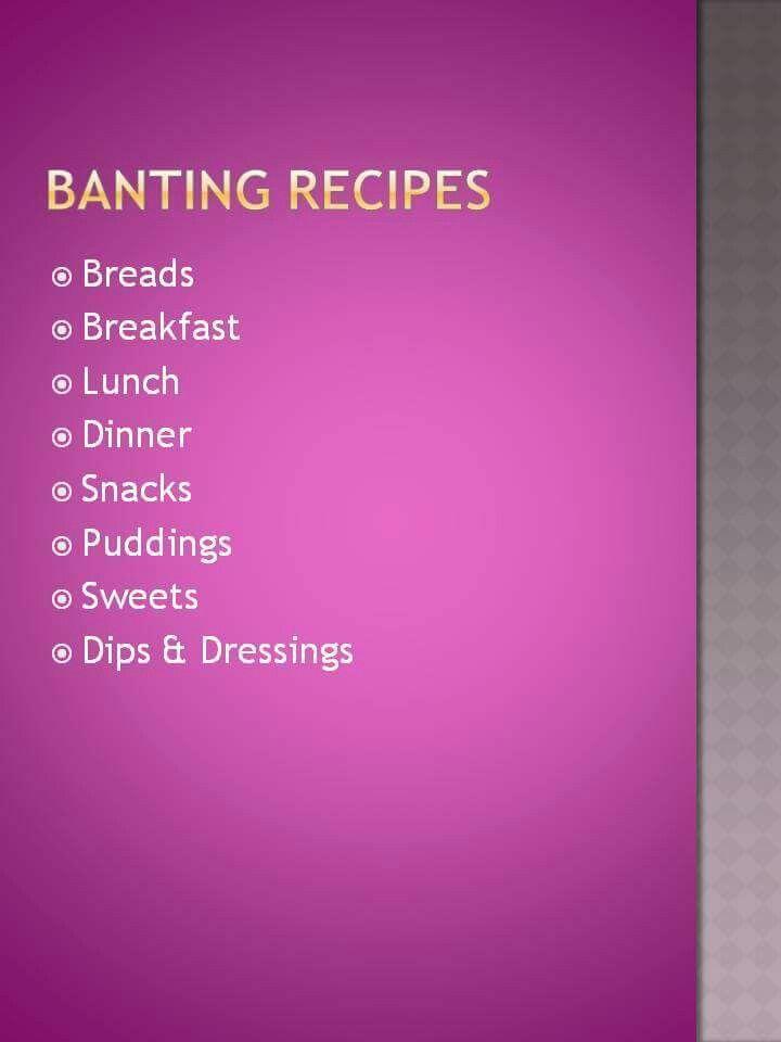Banting Recipes - Anina Den Heyer