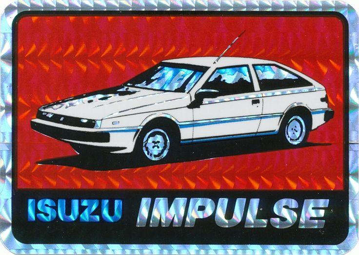 Isuzu Geek: Original Vintage Vending Machine Prism Sticker. Straight outta the '80s!