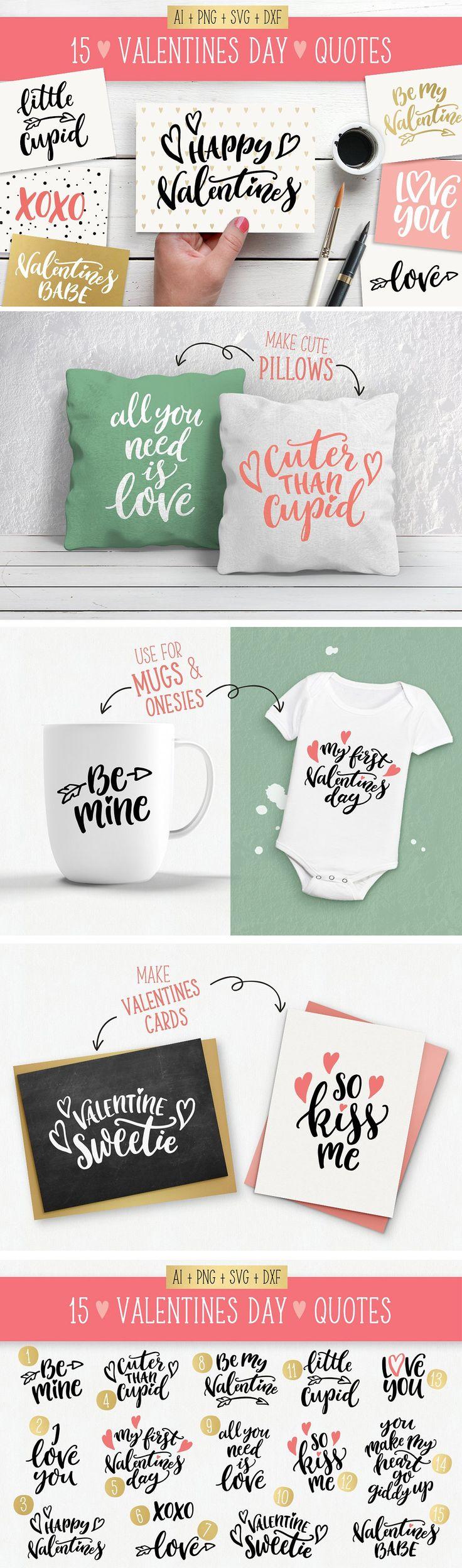 Valentines Day quotes SVG bundle by Skyla Design on @creativemarket