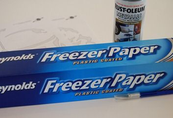 Freezer Paper templates for painting on fabric.