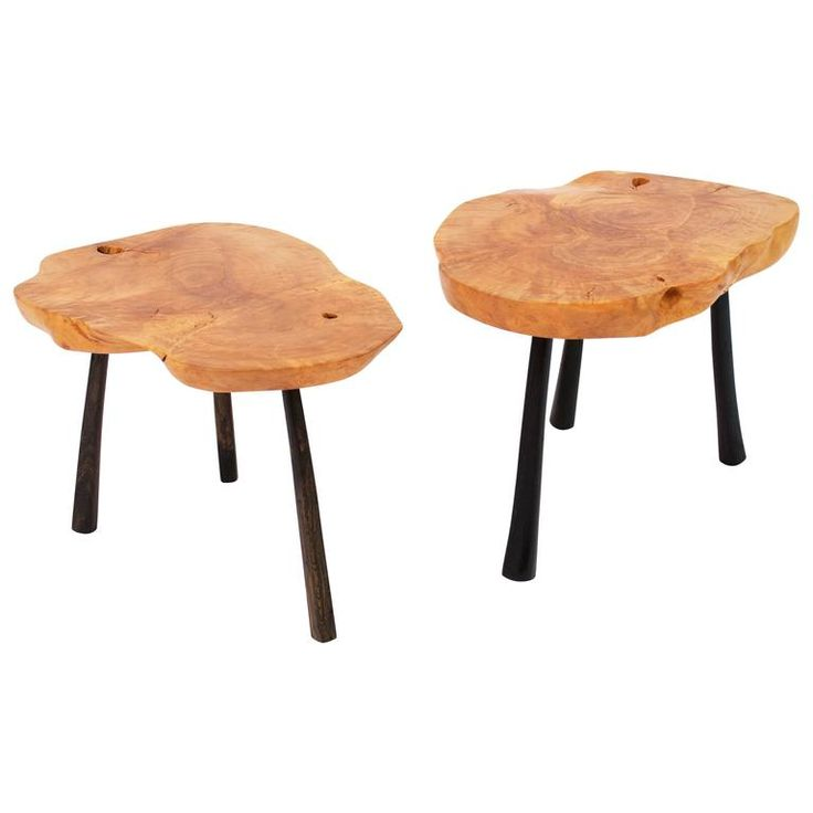 Unique Signed Twin Tables by Jörg Pietschmann | From a unique collection of antique and modern coffee and cocktail tables at https://www.1stdibs.com/furniture/tables/coffee-tables-cocktail-tables/