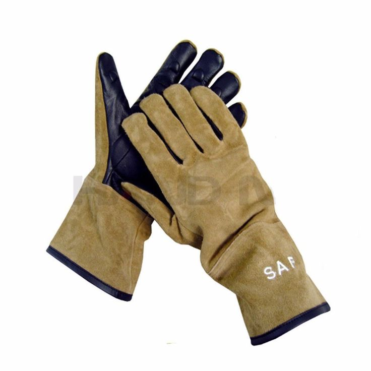 Animal Handling Gloves GAUNTLET LEATHER Kevlar DOG CAT BIRD REPTILE #HandMax
